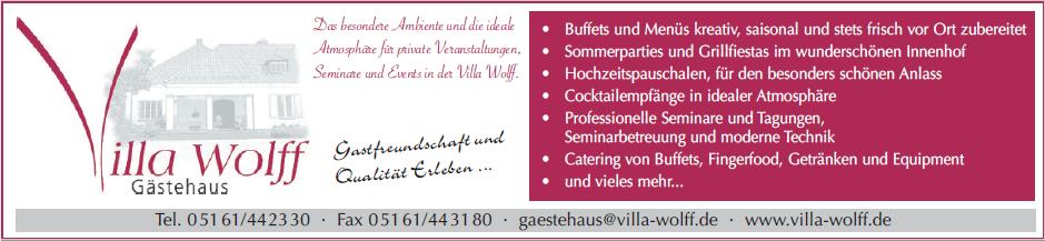 Das Angebot der Villa Wolff